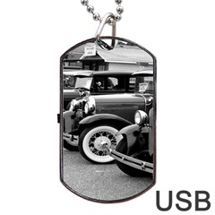 Vehicle Car Transportation Vintage Dog Tag Usb Flash (two Sides)
