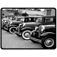 Vehicle Car Transportation Vintage Double Sided Fleece Blanket (large)