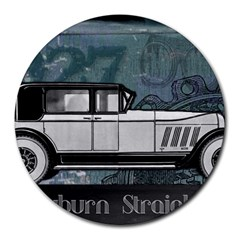 Vintage Car Automobile Auburn Round Mousepads