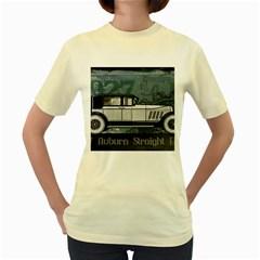 Vintage Car Automobile Auburn Women s Yellow T Shirt