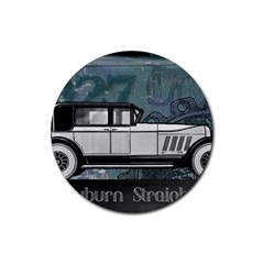 Vintage Car Automobile Auburn Rubber Round Coaster (4 Pack)