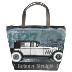 Vintage Car Automobile Auburn Bucket Bags