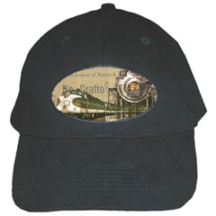 Train Vintage Tracks Travel Old Black Cap