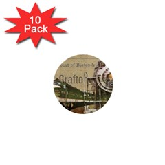Train Vintage Tracks Travel Old 1  Mini Buttons (10 Pack)
