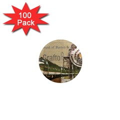Train Vintage Tracks Travel Old 1  Mini Magnets (100 Pack)
