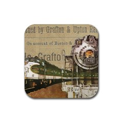 Train Vintage Tracks Travel Old Rubber Coaster (square)