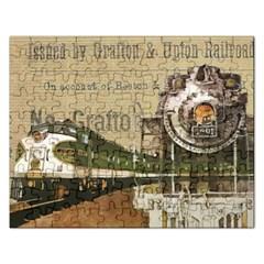 Train Vintage Tracks Travel Old Rectangular Jigsaw Puzzl