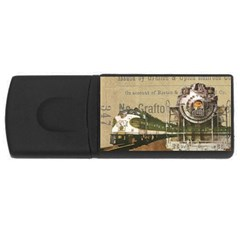 Train Vintage Tracks Travel Old Rectangular Usb Flash Drive