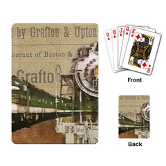 Train Vintage Tracks Travel Old Playing Card