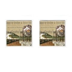 Train Vintage Tracks Travel Old Cufflinks (square)