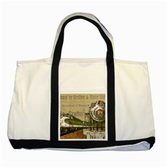 Train Vintage Tracks Travel Old Two Tone Tote Bag