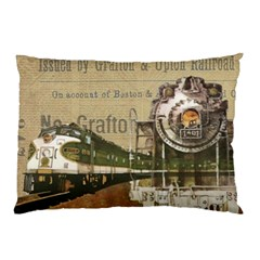 Train Vintage Tracks Travel Old Pillow Case