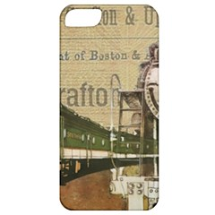 Train Vintage Tracks Travel Old Apple Iphone 5 Classic Hardshell Case