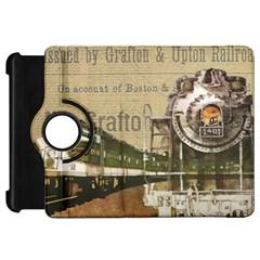 Train Vintage Tracks Travel Old Kindle Fire Hd 7