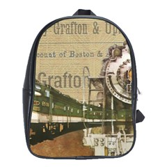 Train Vintage Tracks Travel Old School Bag (xl)