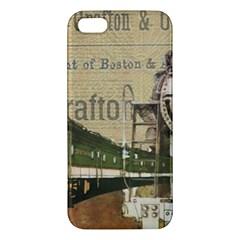 Train Vintage Tracks Travel Old Iphone 5s/ Se Premium Hardshell Case