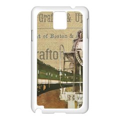 Train Vintage Tracks Travel Old Samsung Galaxy Note 3 N9005 Case (white)