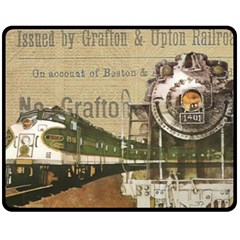 Train Vintage Tracks Travel Old Double Sided Fleece Blanket (medium)