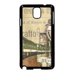 Train Vintage Tracks Travel Old Samsung Galaxy Note 3 Neo Hardshell Case (black)