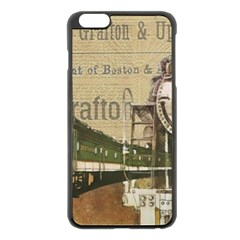 Train Vintage Tracks Travel Old Apple Iphone 6 Plus/6s Plus Black Enamel Case