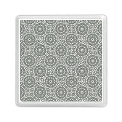 Grey Ornate Decorative Pattern Memory Card Reader (square)  by dflcprints