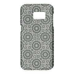 Grey Ornate Decorative Pattern Samsung Galaxy S7 Hardshell Case  by dflcprints