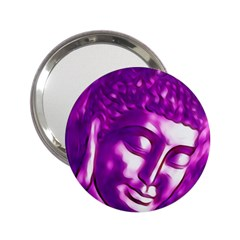 Purple Buddha Art Portrait 2 25  Handbag Mirrors by yoursparklingshop