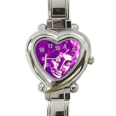 Purple Buddha Art Portrait Heart Italian Charm Watch by yoursparklingshop