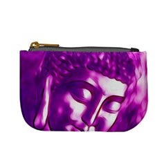 Purple Buddha Art Portrait Mini Coin Purses by yoursparklingshop