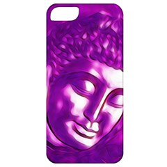 Purple Buddha Art Portrait Apple Iphone 5 Classic Hardshell Case by yoursparklingshop