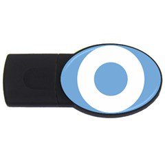 Roundel Of Argentine Air Force Usb Flash Drive Oval (2 Gb) by abbeyz71