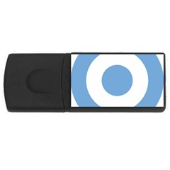 Roundel Of Argentine Air Force Rectangular Usb Flash Drive by abbeyz71