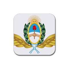 The Argentine Air Force Emblem  Rubber Coaster (square)  by abbeyz71