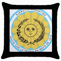 Seal Of The Argentine Army Throw Pillow Case (black) by abbeyz71