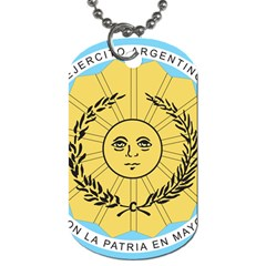 Seal Of The Argentine Army Dog Tag (two Sides) by abbeyz71