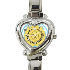 Seal Of The Argentine Army Heart Italian Charm Watch by abbeyz71