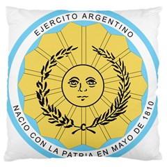 Seal Of The Argentine Army Standard Flano Cushion Case (one Side) by abbeyz71