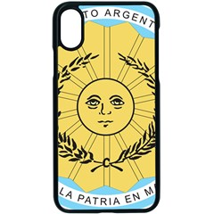 Seal Of The Argentine Army Apple Iphone X Seamless Case (black) by abbeyz71