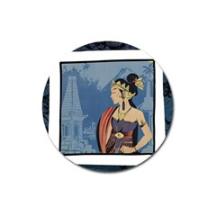 Java Indonesia Girl Headpiece Magnet 3  (round)