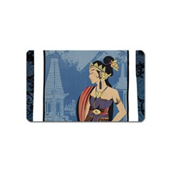 Java Indonesia Girl Headpiece Magnet (name Card) by Nexatart