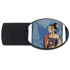 Java Indonesia Girl Headpiece Usb Flash Drive Oval (4 Gb)