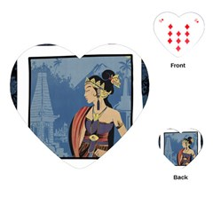 Java Indonesia Girl Headpiece Playing Cards (heart)