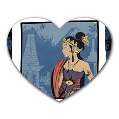 Java Indonesia Girl Headpiece Heart Mousepads