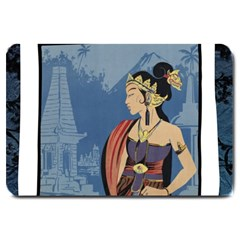 Java Indonesia Girl Headpiece Large Doormat