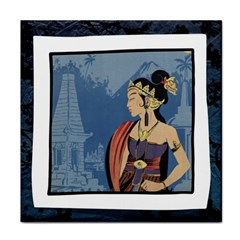 Java Indonesia Girl Headpiece Face Towel