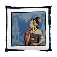 Java Indonesia Girl Headpiece Standard Cushion Case (two Sides)