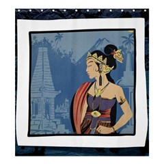 Java Indonesia Girl Headpiece Shower Curtain 66  X 72  (large)