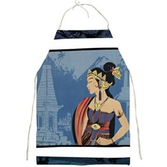 Java Indonesia Girl Headpiece Full Print Aprons