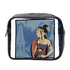 Java Indonesia Girl Headpiece Mini Toiletries Bag 2 Side