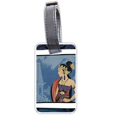 Java Indonesia Girl Headpiece Luggage Tags (one Side)